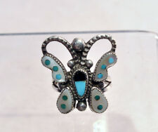 Zuni Ring Butterfly Size 7 1/2 c.1950