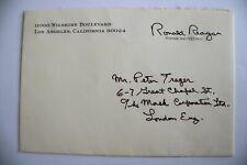 More details for ronald reagan, autopen signed (?) envelope, cover. 11000 wilshire blvd.