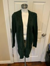 Sleeping on Snow Green Boucle Knit Wool Cardigan Sweater, Size Large
