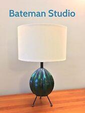 Drip Glaze Sputnik Atomic Mid Century Modern Tripod Lamp