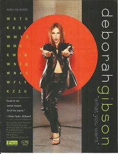 Debbie DEBORAH GIBSON what & LARA FABIAN I Will PROMO TRADE AD Poster of 2000 CD