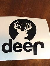 DEER Window Decal/Sticker,3.5x3.5Buck,Rack,Hunting, Country Life,Jeep,Truck,Car,