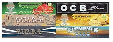 King Size Rizla Rolling Papers, Natura, OCB, Elements, Kingsize Hornet, Micron