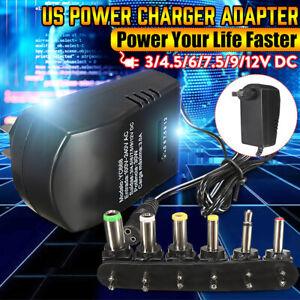 Universal AC DC Adapter Converter 3/4.5/6V 7.5V 9V 12V Power Supply Charger