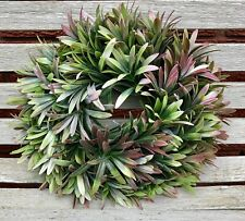 SHABBY CHIC ARTIFICIAL HERBS WREATH CENTREPIECE HOME COUNTRY COTTAGE DECOR