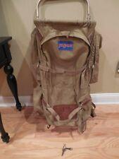 HUGE Vintage Jansport K2 External Frame TAN Backpack USA Hiking Camping D3