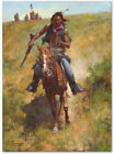 Working for the Government - by Howard Terpning -  giclee on canvas