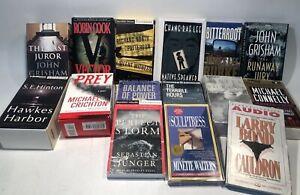 Lot 16 Audio Books Tape : John Grisham Michael Crichton S.E. Hinton M. Connelly