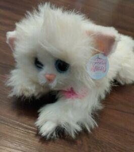 Vintage 2000 DSI FLUFFY Kitty Kitty Kittens NEW W/ TAGS White Persian Cat Plush