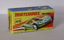 Repro Box Matchbox Superfast Nr.45 Group 6 Ford neuer