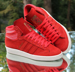 Adidas Americana Hi 88 Red Suede Men's Size 9.5 White 2013 Release G96457