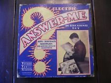 Vintage Electric Answer-Me Educational Toy by Tucker Toys Inc.