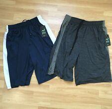 Real Essentials Mens Q Active Athletic Performance Shorts Pockets 2 Pack L