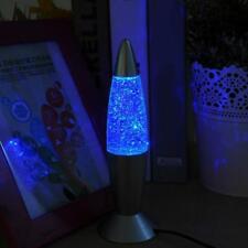 3D Lava Lamp Rocket Multi Color Changing RGB LED Glitter Night Light Lamps Gift