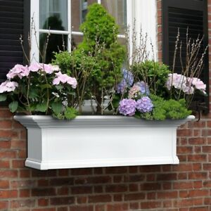 Window Box 12 in. x 36 in. Vinyl Plastic Weather Resistant with Drainage Holes
