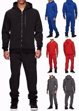 Uni Colour Sportanzug Herren Damen Jogginganzug Jacke Sport Hose einfarbig Neu
