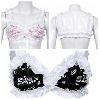 Sissy Cross Dresser Lingerie Smooth Soft Satin Training Bra for MEN Underwear