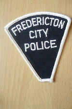 Patches: FREDERICTON CITY CANADA POLICE PATCH (NEW* apx.8x7.8 cm)