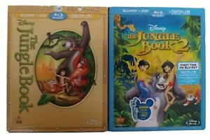 Disney Set of 2 The Jungle Book Original 1 & 2 Blu Ray DVD Movie PERFECT