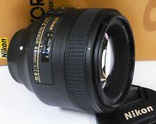 Nikon 85mm f/1.8 AF-S Prime Portrait Lens Mint Minus & Boxed - ST35849
