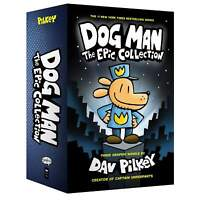 Dog Man The Epic Collection 3 Books Set (1-3) By Dav Pilkey Hardcover NEW