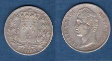 Charles X , 1824 - 1830 - 2nd Type d'effigie - 5 Francs 1828 W Lille TB TTB