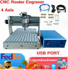3040 4Axis USB CNCRouter Desktop Engraver Engraving Carving Milling Machine 400W