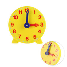 Geared Teaching Aid Time Learning Educational Clock Learn Kits GO9X