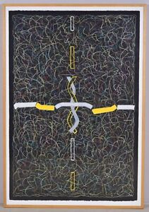 Philip Tsiaras (Greek American b. 1952) LARGE Abstract Expressionism-Untitled #1