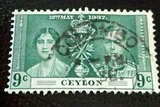 Ceylon:1937 Coronation of King George VI & Queen Eliz. Rare & Collectible Stamp.