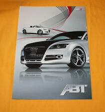 Abt TT 2008 Prospekt Brochure Depliant Catalog Folder Broschyr Prospetto Audi