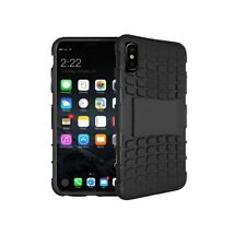 Black iPhone X Tough Survivor Rugged Cover. Armour Shockproof Protective Case
