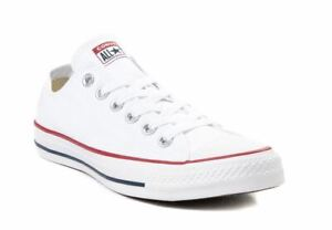 Converse All Star ox MENS Canvas Trainers Optical White Size 9 UK / 42.5 EU
