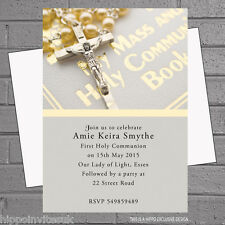 Personalised 1st First Holy Communion Party Invitations x 12 +envs H0925