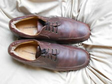 Men's Johnston Murphy Oxfords Size 9.5 (D,M) Casual Solid Brown Leather