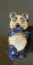 Joan Rivers Crystal Panda Bear Pin