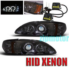 94-98 FORD MUSTANG PROJECTOR HEADLIGHTS+6000K HID SMOKE