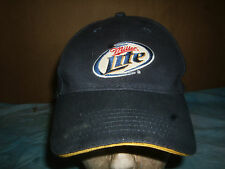 MILLER LITE  BASEBALL   HAT, ONE SIZE FITS ALL,   BLUE  PREVIOUSLY  unworn