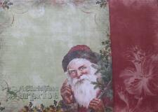 """12""""X12"""" Scrapbook Double Sided Paper Father Christmas NEW"""