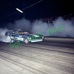Vintage original drag racing photo negative Candies & Hughes Cuda Funny Car