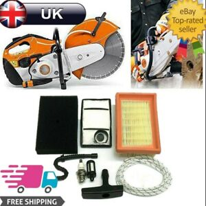 For STIHL TS400 Air Filters + Filter Plug Fuel Pipe Pull Cord Service Kit Parts