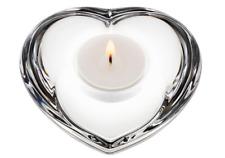 ORREFOR CRYSTAL AMOUR HEART VOTIVE CANDLE HOLDER SWEDEN - $35 - MINT!!!