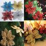 New Christmas Flowers Xmas Tree Decoration Glitter Hollow Wedding Party Decor OO
