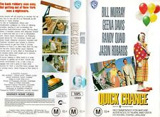 QUICK CHANGE - Bill Murray -VHS - PAL -NEW - Never played! - Original Oz release
