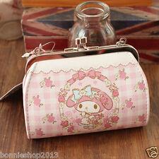Super Cute hello kitty My Melody mini PU Purse Clutch  Wallet Coin Bag