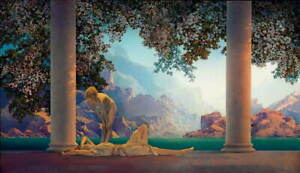 Maxfield Parrish Daybreak By Parrish Poster Reproduction Giclee Canvas Print