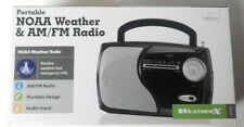 NEW WEATHER X WR282B PORTABLE NOAA WEATHER & AM/FM RADIO