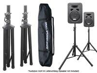 2 x Boxenständer mit 1 x Tasche Stativ Ständer für Audio Speaker Lautsprecher