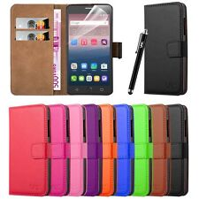 Wallet Pouch Leather Book Flip Case Cover for Various Mobile PHONES Pink Alcatel ONETOUCH Pop Star 3g (5.0)