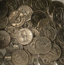 OLD Canada Nickel Lot - 50 Coins - PURE NICKEL - Bullion - 1955-1981